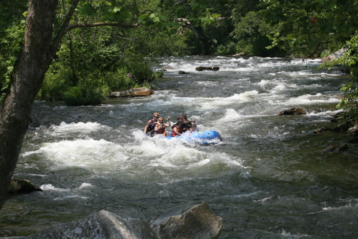 Whitewater rafting in the Nantahala Gorge