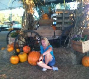 at the pumpkin farm