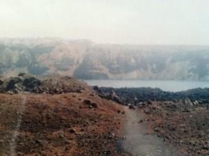 the islet of Nea Kameni, Santorini's volcano