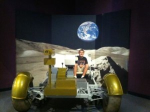 Hop aboard a moon buggy at Kennedy Space Center