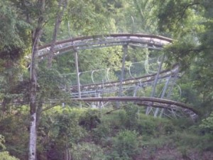 The longest downhill ride in the United States: the Smoky Mountain Alpine Coaster in Pigeon Forge, Tennessee