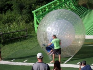 It's like getting burped out of a bubbly alien at the end of your ride at Outdoor Gravity Park in Pigeon Forge, Tennesse