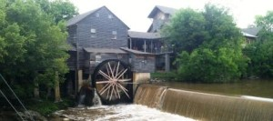 The Old Mill, a working grist mill in Pigeon Forge, TN