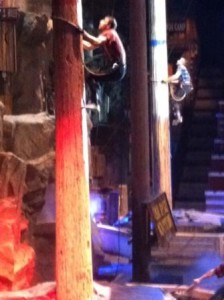 The speed climbing competition at the Lumberjack Feud in Pigeon Forge