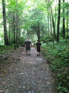 Father and son bonding on the trails at Great Smoky Mountain National Park
