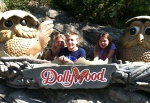 Me and the peeps hanging out at Pigeon Forge's Dollywood Theme Park.