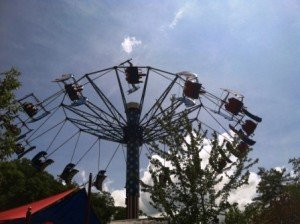 The County Fair rides at Dollywood in Pigeon Forge, TN