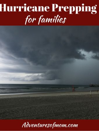 Hurricane prepping for families