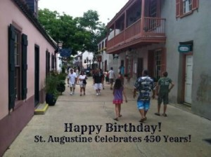 St. Augustine is 450 years old!