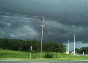 On coming storm in Florida.
