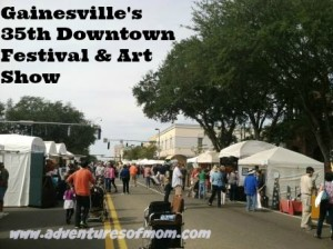 Over 240 artisans filled Gainesville's historic downtown for the annual Arts Festival.