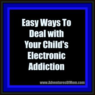 Some simple solutions to dealing with your child's electronic addiction