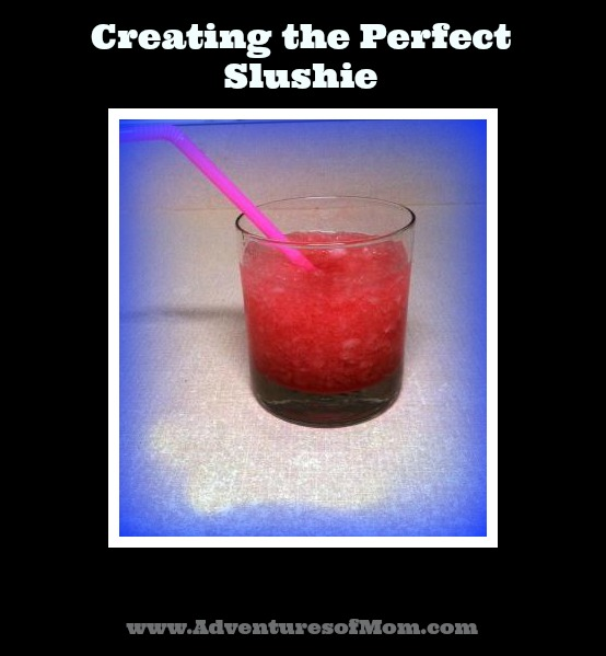 Make your own iced slushie- recipe included