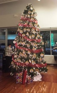 "The Marion Cultural Alliance ""Angel"" Christmas Tree at Brick City Gallery."