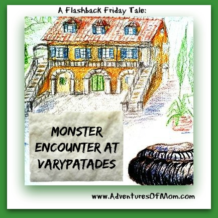 I never expected to run across a prehistoric sized monster on the Greek island of Corfu! A Flashback Friday Adventures of Mom Tale