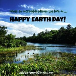 Don't we live on an awesome planet? Celebrating Earth Day from the Adventures of Mom.