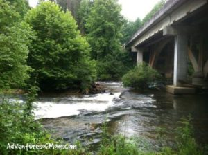 Follow the Amicalola River Trail under the bridge..to the Edge of the World! Only in Georgia!