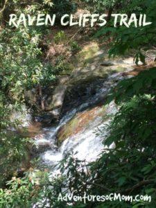 Waterfalls on the Raven Cliffs Trail near Helen, Georgia