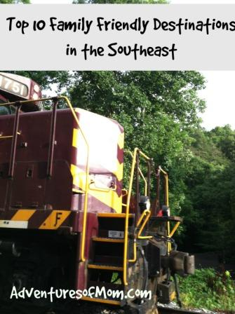 Top Ten Family Friendly Destinations in the Southeast