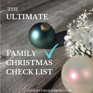 The Ultimate Family Christmas Check List
