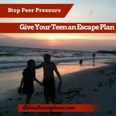 Stop peer pressure by giving your teens an escape plen