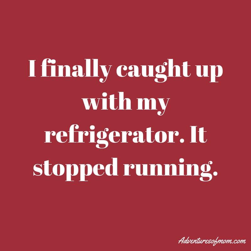 When the fridge broke down