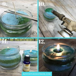 How to use granulated wax for candles
