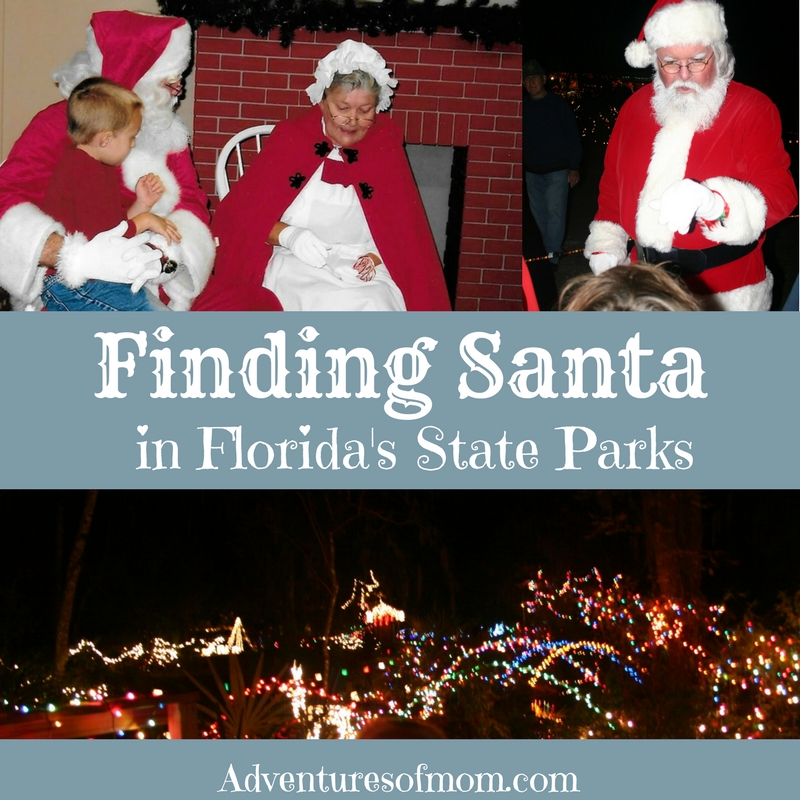 Finding Santa in Florida's State Parks | Adventures of Mom
