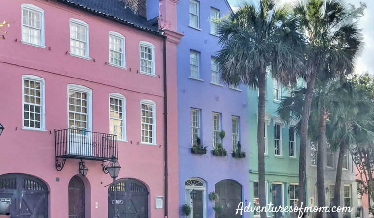 Rainbow Row in Charleston SC: Family Adventures in the Low Country