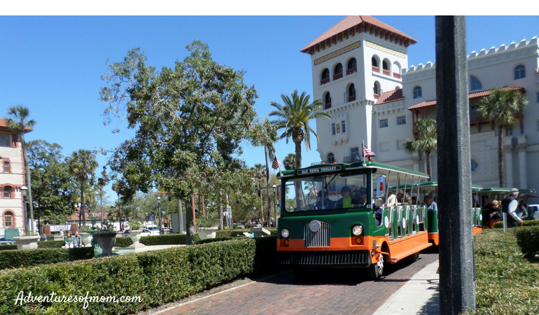 The Best Way to Get Around Old St. Augustine...hop-on-hop-off trolleys