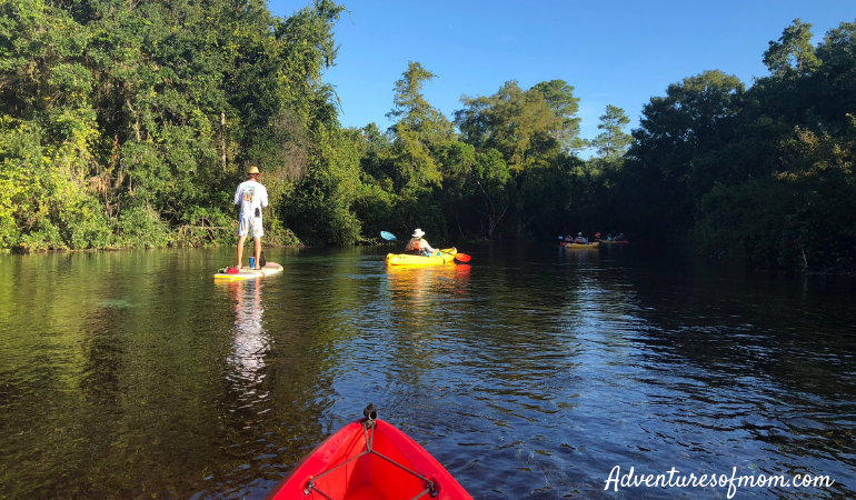Paddling on the Weeki Wachee River