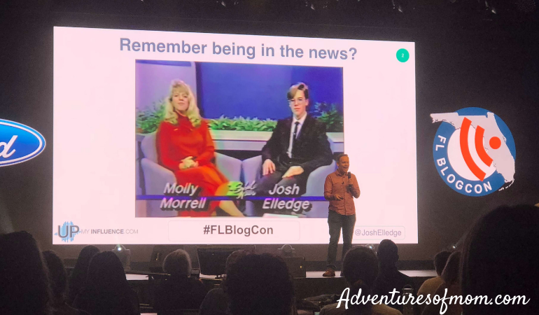 Keynote Speaker Josh Elledge of UpMyInfluence at the #FLBLogCon 2018