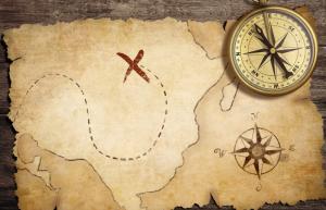 Pirate Map. Stockphoto @Depositphotos