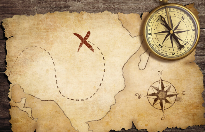 Pirate Map. Stockphoto @Depositphotos