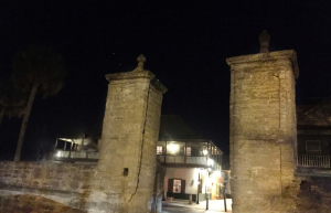 St. Augustine was raided by pirates Sir Francis Drake and Robert Searles