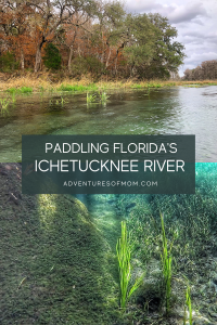 Paddling Ichetucknee River in North Florida