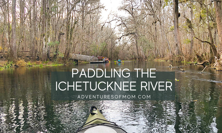 Paddling on the Ichetucknee River in North Florida